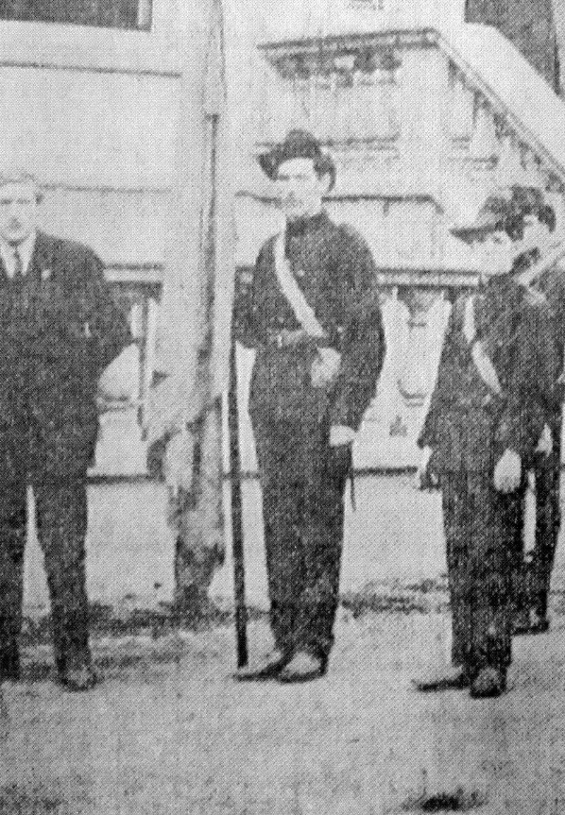 James Larkin, far left
