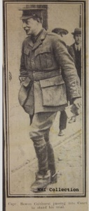 Bowen Colthurst arriving at Richmond Barracks for his court martial June 1916 (NMI Collection)