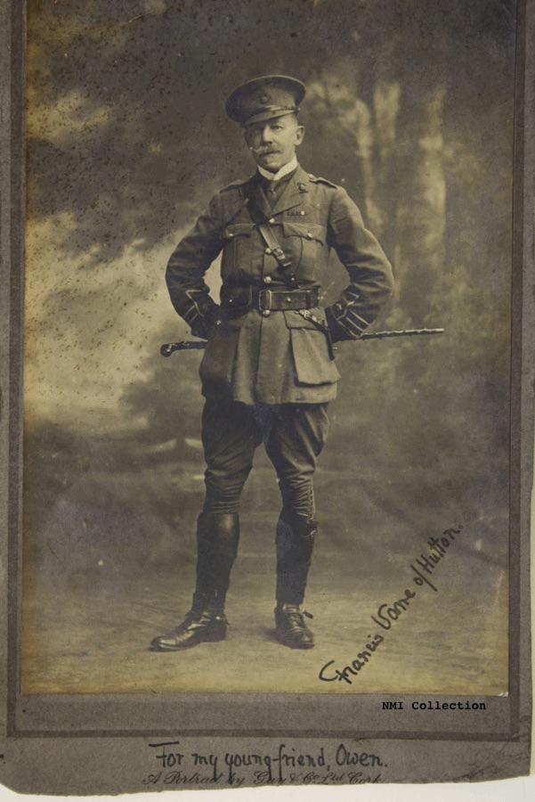 Major Sir Francis Vane, photograph autographed for Owen Sheehy Skeffington (NMI Collection)
