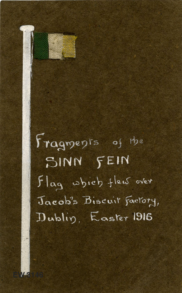 The tricolour flag from Jacob's Biscuit Factory, 1916 Rising