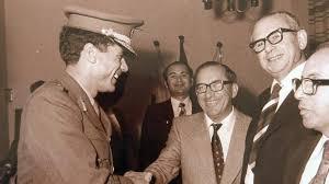 Colonel Gaddafi and Dom Mintoff (Times of Malta)